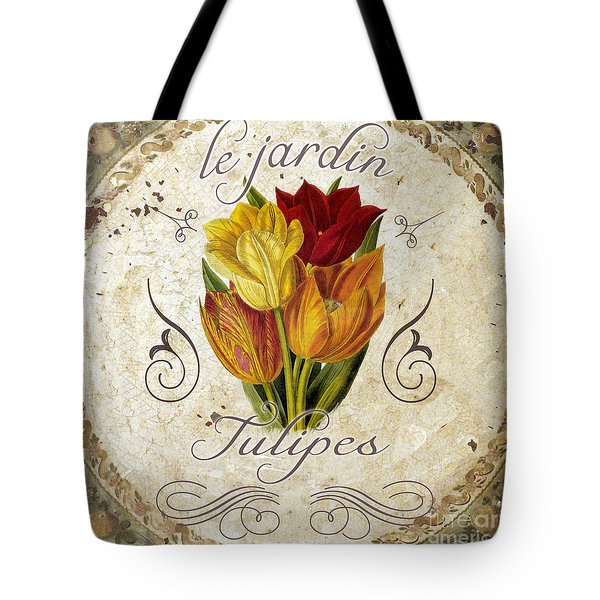 Le Jardin Tulipes Tote Bag by Mindy Sommers