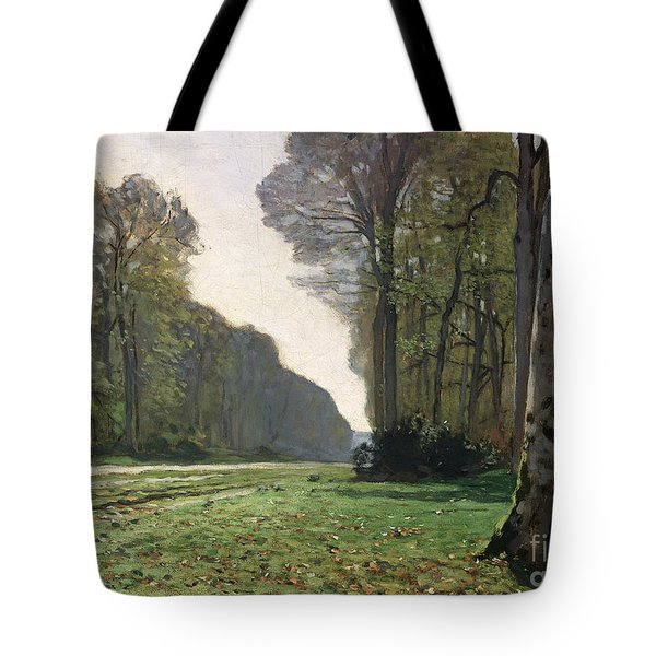 Le Pave De Chailly Tote Bag by Claude Monet