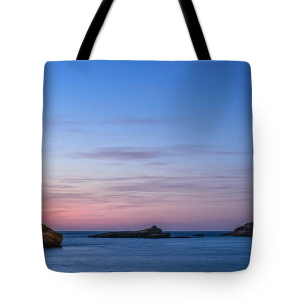 Tote Bag featuring the photograph Le Phare De Biarritz by Thierry Bouriat