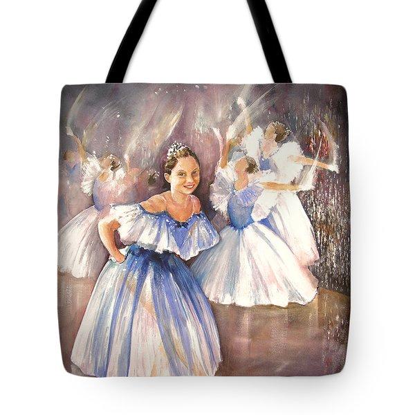 Le Premier Pas Tote Bag by Miki De Goodaboom