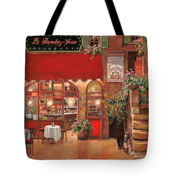Le Rendez Vous Tote Bag by Guido Borelli