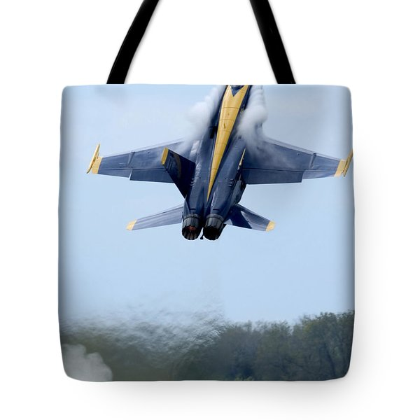 Lead Solo Pilot Of The Blue Angels Tote Bag by Stocktrek Images
