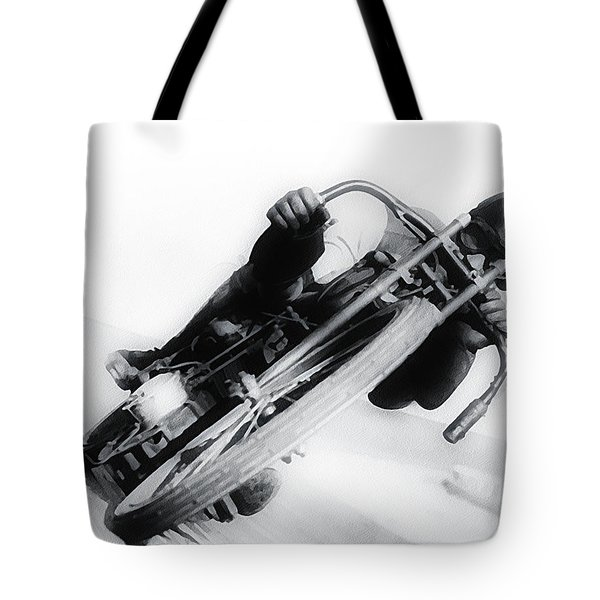 Leaning Hard Tote Bag by Bill Cannon