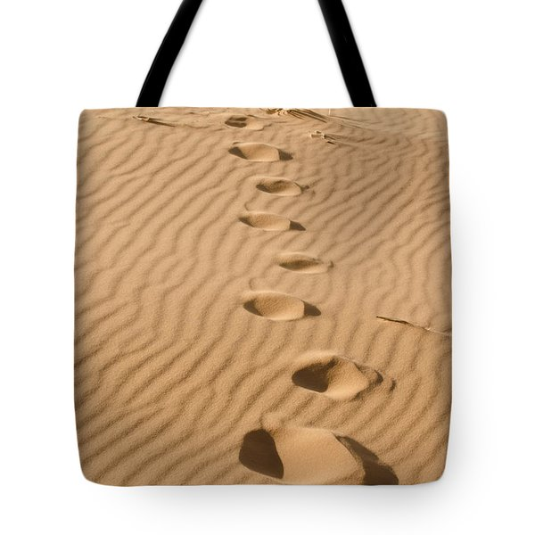 Leave Only Footprints Tote Bag by Heather Applegate