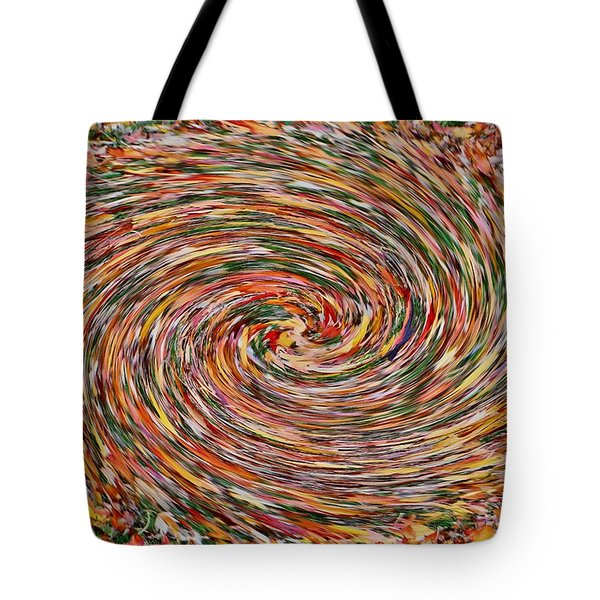 Leaves Playing Roulette Tote Bag by Nick David