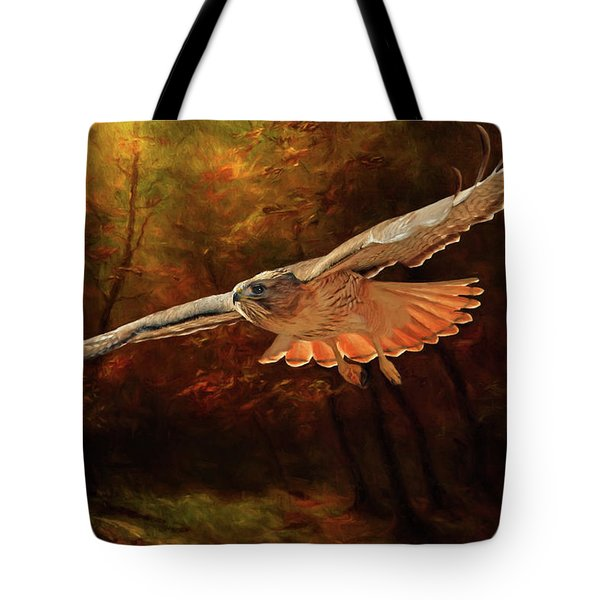Leaving The Enchanting Forest Tote Bag by Donna Kennedy