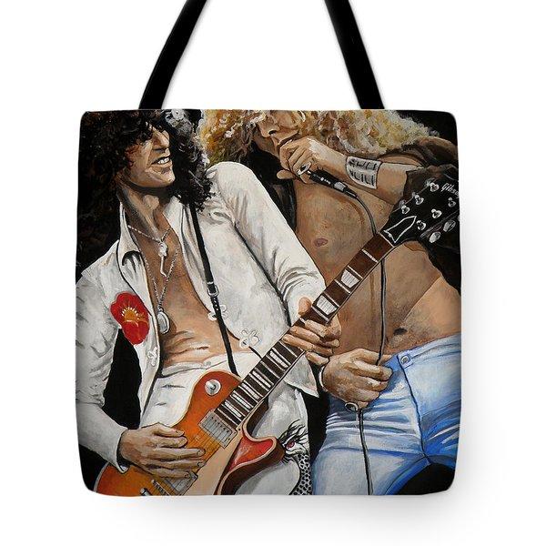 Led Zeppelin Tote Bag by Tom Carlton