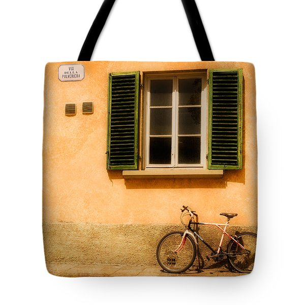 Left Flat In Lucca Tote Bag by Mick Burkey