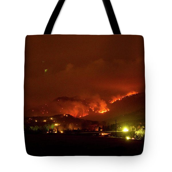 Lefthand Canyon Wildfire Boulder County Colorado 3-11-2011 Tote Bag by James BO  Insogna