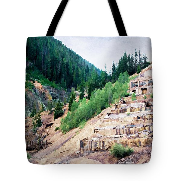 Leftovers from Sunnyside Mill Tote Bag by Lana Trussell