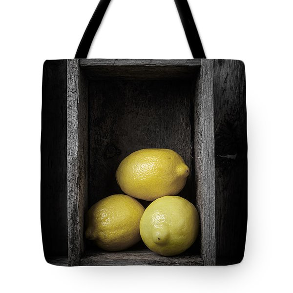Lemons Still Life Tote Bag by Edward Fielding