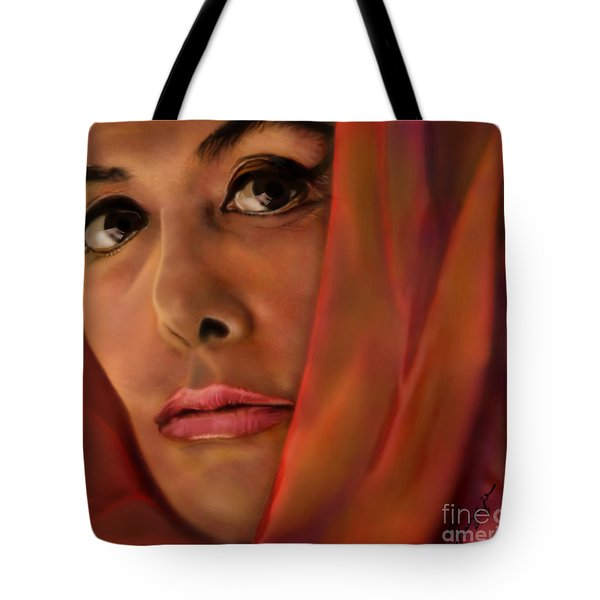 Lena Horne-glass Windows Tote Bag by Reggie Duffie