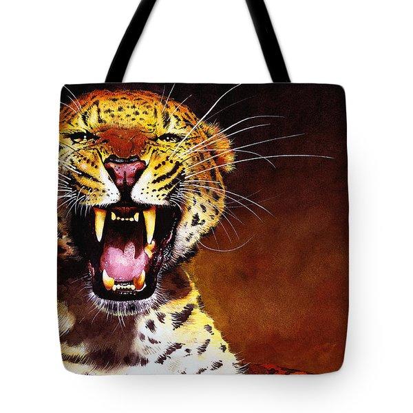 Leopard Tote Bag by Paul Dene Marlor