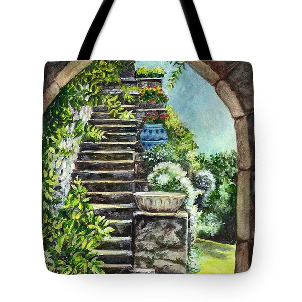 Les Escaliers En Bandouille In Sevres France  Tote Bag by Carol Wisniewski