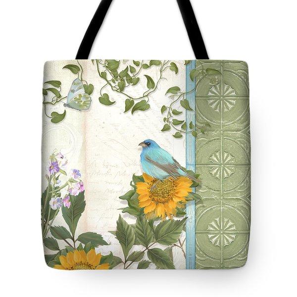 Les Magnifiques Fleurs Iv - Secret Garden Tote Bag by Audrey Jeanne Roberts