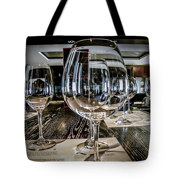 Let The Wine Tasting Begin Tote Bag by Julie Palencia