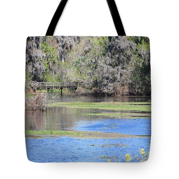 Lettuce Lake With Bridge Tote Bag by Carol Groenen