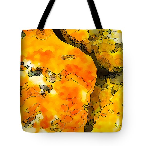 Lichen Abstract 1 Tote Bag by Bill Caldwell -        ABeautifulSky Photography