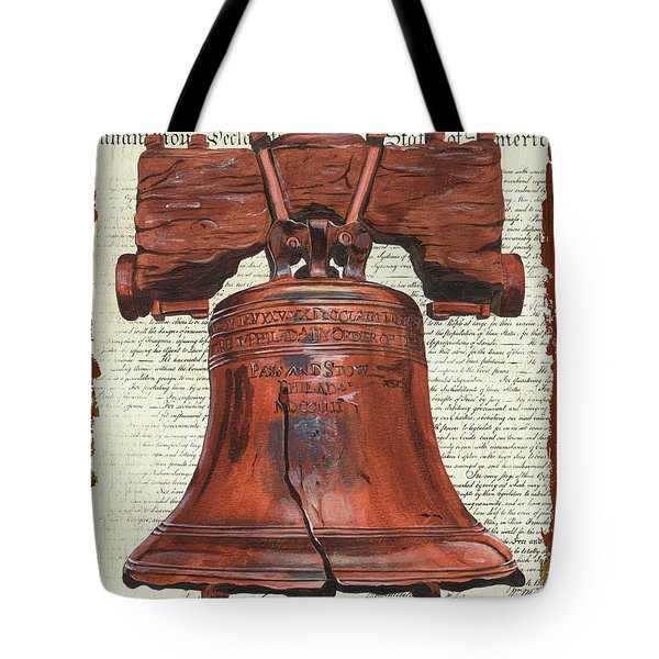 Life And Liberty Tote Bag by Debbie DeWitt