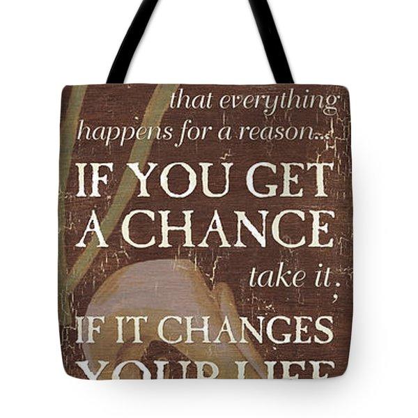 Life Is.... Tote Bag by Debbie DeWitt
