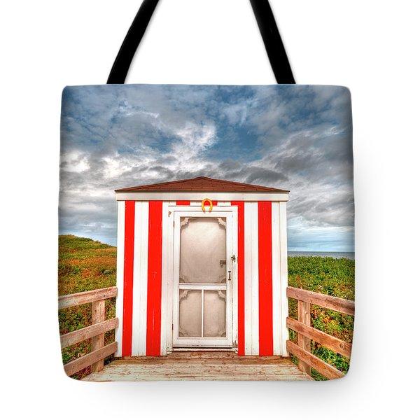 Lifeguard Hut Tote Bag by Elisabeth Van Eyken