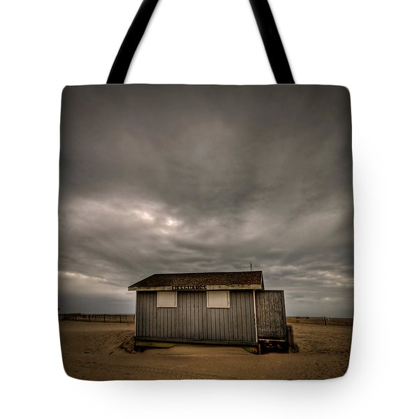 Lifeguard Shack Tote Bag by Evelina Kremsdorf