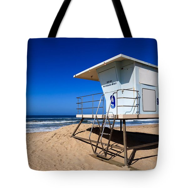 Lifeguard Tower Photo Tote Bag by Paul Velgos