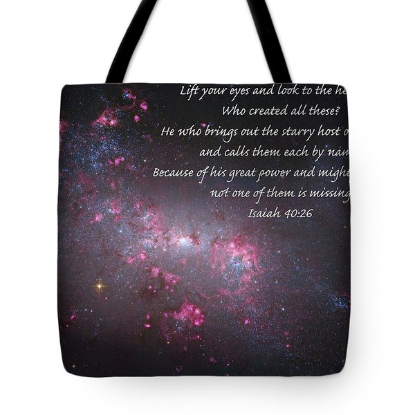 Lift Your Eyes Tote Bag by Michael Peychich
