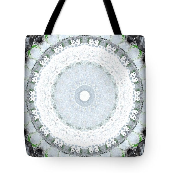 Light Blue Mandala- Art By Linda Woods Tote Bag by Linda Woods