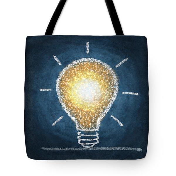 light bulb design Tote Bag by Setsiri Silapasuwanchai