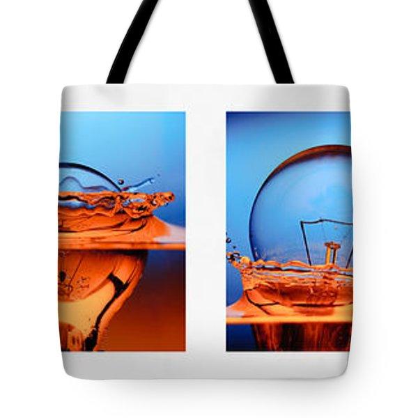 light bulb drop in to the water Tote Bag by Setsiri Silapasuwanchai