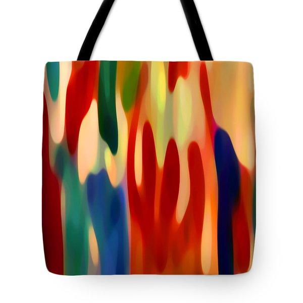 Light Through Flowers Tote Bag by Amy Vangsgard