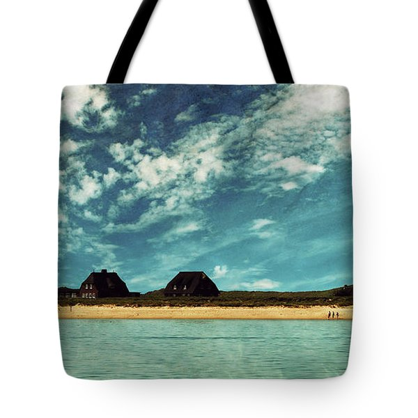 Lighthouse Scenery At List Tote Bag by Hannes Cmarits