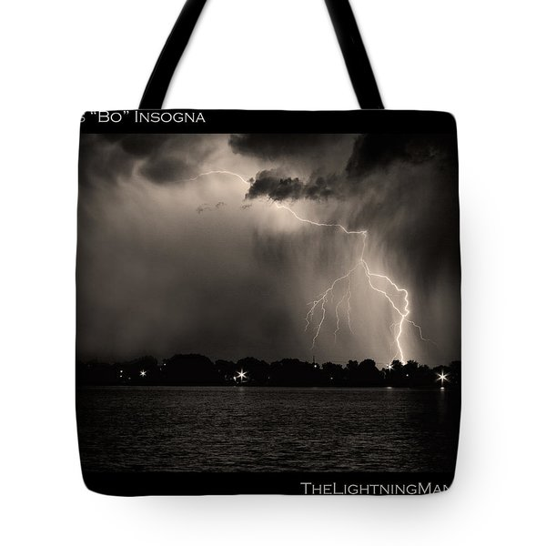 Lightning Energy Poster Print Tote Bag by James BO  Insogna