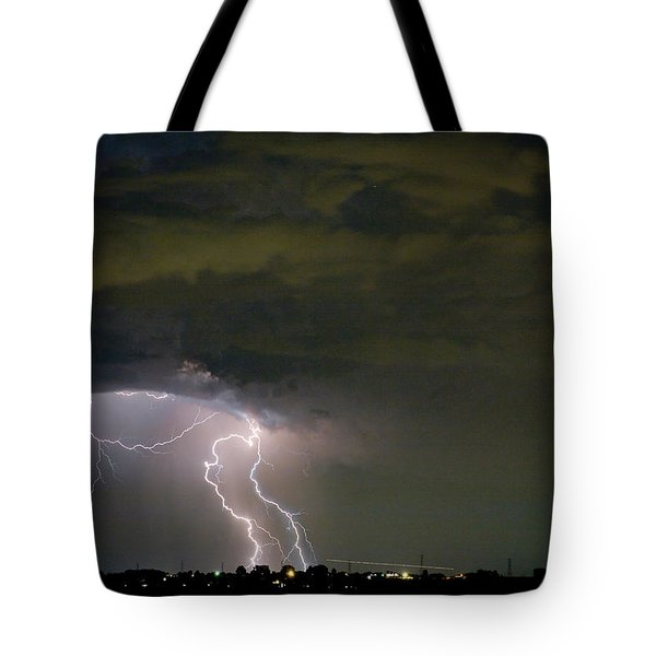 Lightning Man in the Clouds Tote Bag by James BO  Insogna