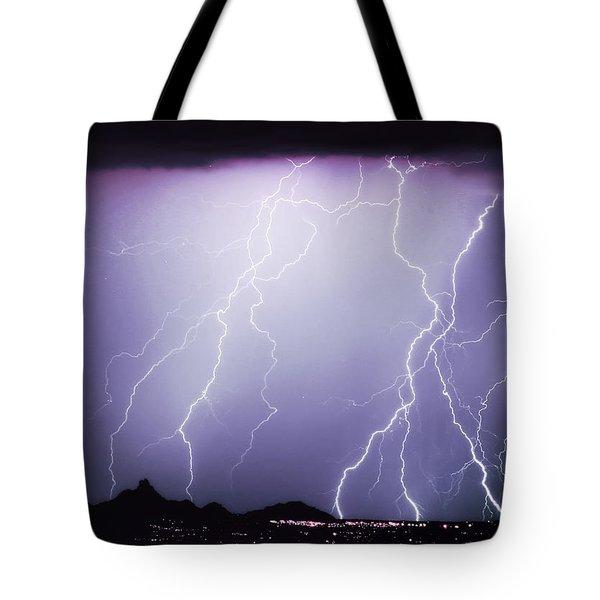 Lightning Storm North Scottsdale Az 85255 Tote Bag by James BO  Insogna