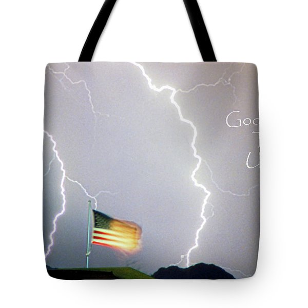 Lightning Strikes God Bless The Usa Tote Bag by James BO  Insogna