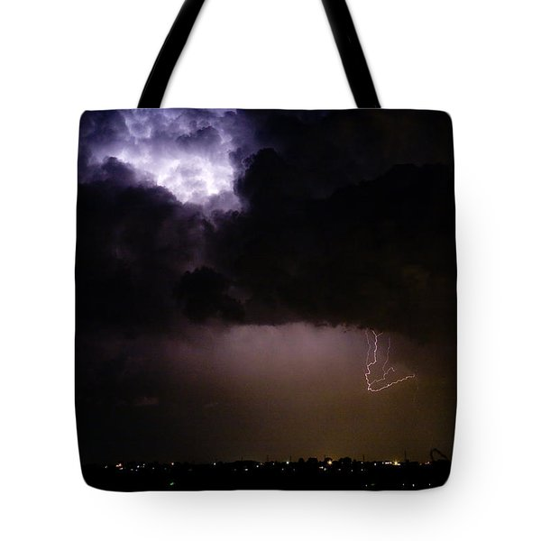 Lightning Thunderstorm Cell 08-15-10 Tote Bag by James BO  Insogna