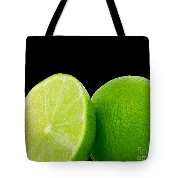 Limes Tote Bag by Cheryl Young
