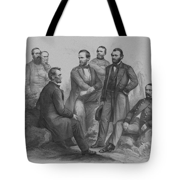 Lincoln And His Generals Tote Bag by War Is Hell Store
