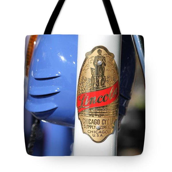 Lincoln Chicago Cycle Supply Company Tote Bag by Lauri Novak