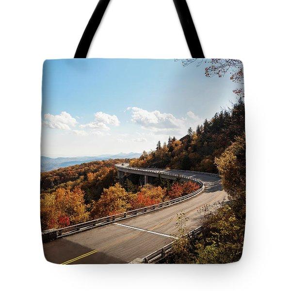 Linn Cove Viaduct Tote Bag by Deborah Scannell