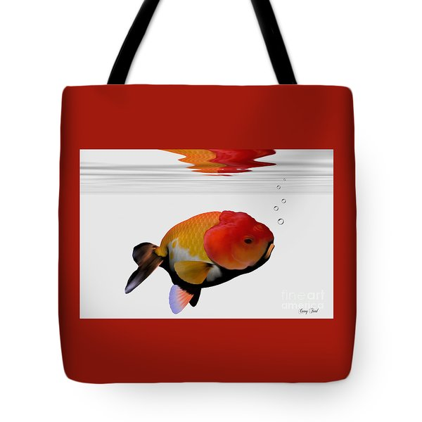 Lion-head Goldfish Tote Bag by Corey Ford