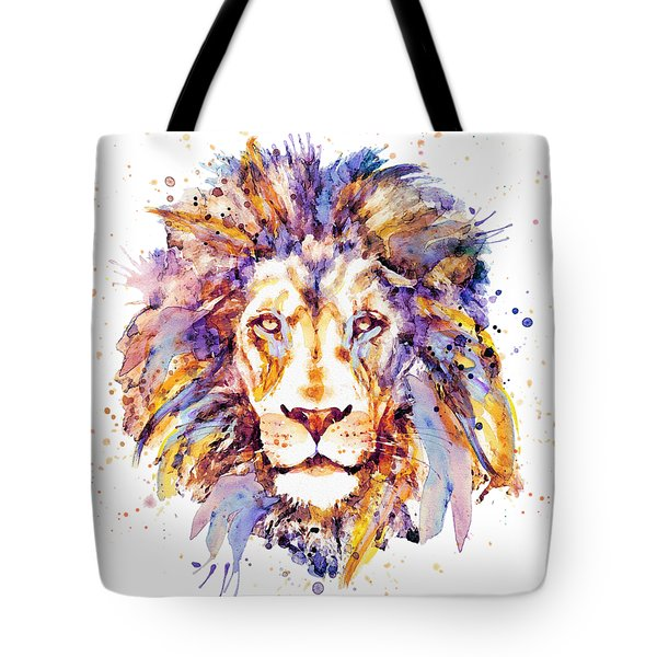 Lion Head Tote Bag by Marian Voicu