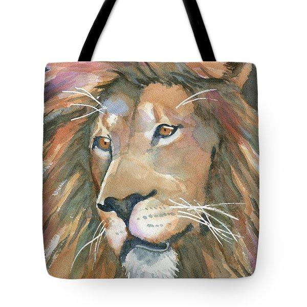 Lion Of Judah Tote Bag by Marsha Elliott