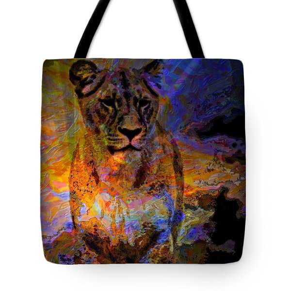 Lion On The Mesa Tote Bag by WBK