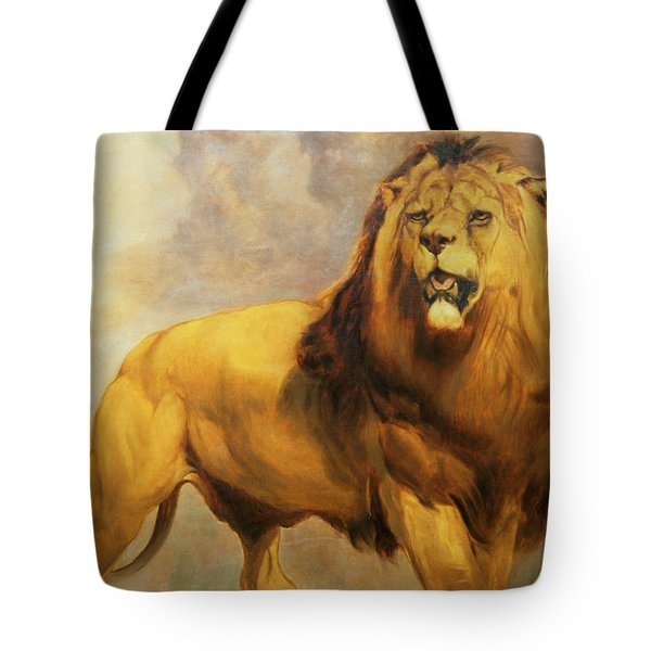 Lion  Tote Bag by William Huggins