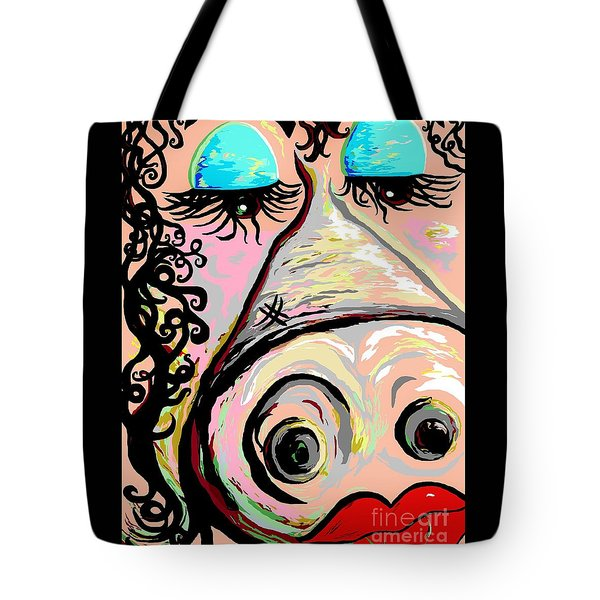 Lipstick On A Pig Tote Bag by Eloise Schneider