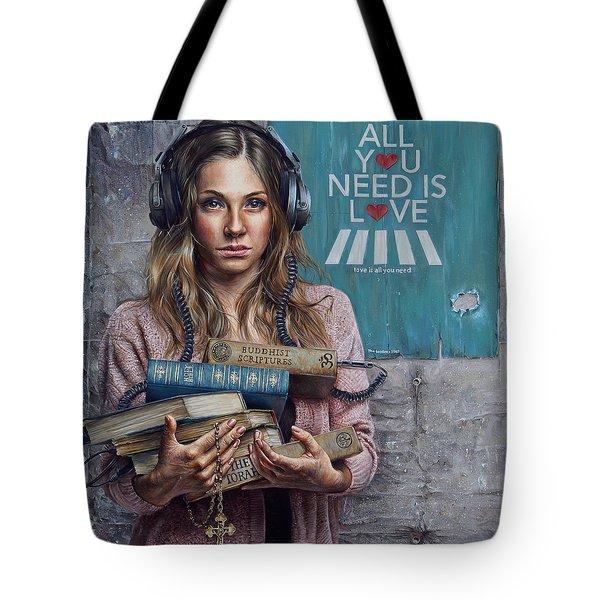 Listen 2 Tote Bag by Brent Schreiber