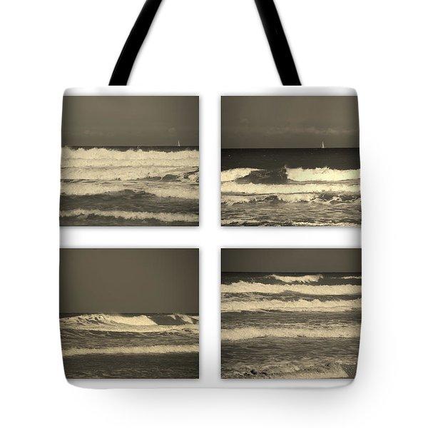 Listen to the Song of the Ocean Tote Bag by Susanne Van Hulst